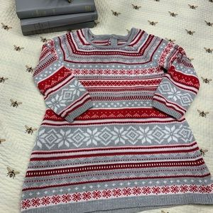 Gymboree sweater dress Christmas winter snow 2T